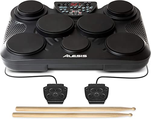 Alesis Compact Kit 7 | 7-Pad Electronic Table-top Drum Kit with Velocity-Sensitive Drum Pads, USB-MIDI Output and Dru...