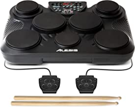 Alesis CompactKit 7 – Tabletop Electric Drum Set with 265 Electronic / Acoustic Drum Kit Sounds, 7 Pads, Battery or AC-Pow...