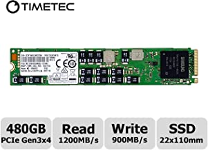 Timetec SM963 480GB 3D NAND NVMe M.2 PCIe Gen3 x4 110mm (22110) Internal High Performance Solid State Drive SSD MZ1KW480HMHQ (Length Longer Than 2280) (M.2 PCIe 480GB)
