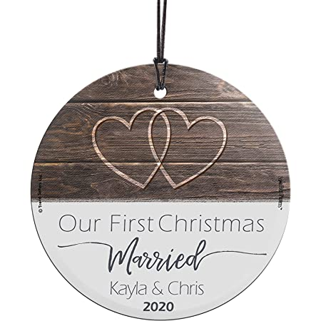 Hanging lights First Christmas as Mr /& Mrs Ornament Rustic Wedding Gift Lovebirds OR970 Personalized Christmas Ornament String lights
