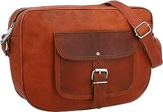 Gusti Handtasche Leder - Randy Umhängetasche Ledertasche Abendtasche Vintage Braun Leder