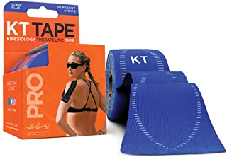 """Sponsored Ad - KT Tape Pro Synthetic Kinesiology Therapeutic Sports Tape, 20 Precut, 10"""" Strips"""