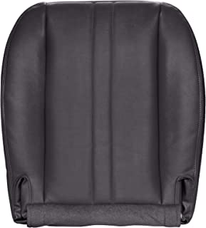The Seat Shop Work Van Driver or Passenger Bottom Replacement Seat Cover - Very Dark Pewter (Dark Gray) Vinyl (Compatible with 1996-2002 Chevrolet Express and GMC Savana)