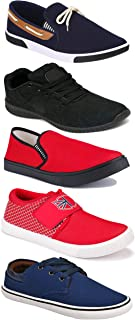 WORLD WEAR FOOTWEAR Sports Running Shoes/Casual/Sneakers/Loafers Shoes for Men Multicolor (Combo-(5)-1219-1221-1140-417-664)