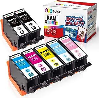 GPC Image カメ 互換インクカートリッジ KAM-6CL-L 6色パック+ KAM-BK-L (計7本) 増量タイプ エプソン(Epson)用 KAM-6CL カメ インク EP-882AW EP-882AB EP-882AR EP-8...