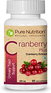 Pure Nutrition Cranberry Plus 620mg | with Goodness of Cranberry extracts, Gooseberry Extracts, Vitamin C, Vitamin D and P...