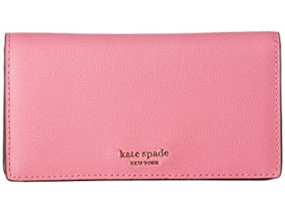 Kate Spade New York Medium Bifold with Card Holder (Hibiscus Tea) Wallet Handbags