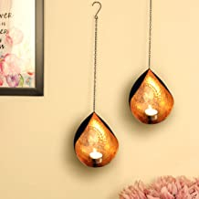 TIED RIBBONS Wall Hanging Tealight Candle Holders for Diwali Decoration - Wall Sconces with Tealight Candles Diwali Decor ...