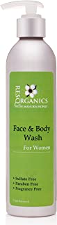 ResQ Organics Gentle Facial Cleanser & Body Wash - All Natural Way To Clean and Moisturize With Aloe Vera, Natural Healing Manuka Honey and Organic Ingredients - Perfect Make-up Remover or Shaving Cream