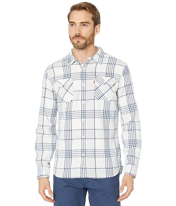 Levis  Becks Herringbone Flannel Shirt (Marshmallow) Mens Clothing