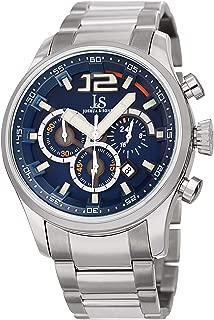 Joshua & Sons Men's Quartz Watch, Analog Display and Stainless Steel Strap Jx134Ssbu, Silver Band