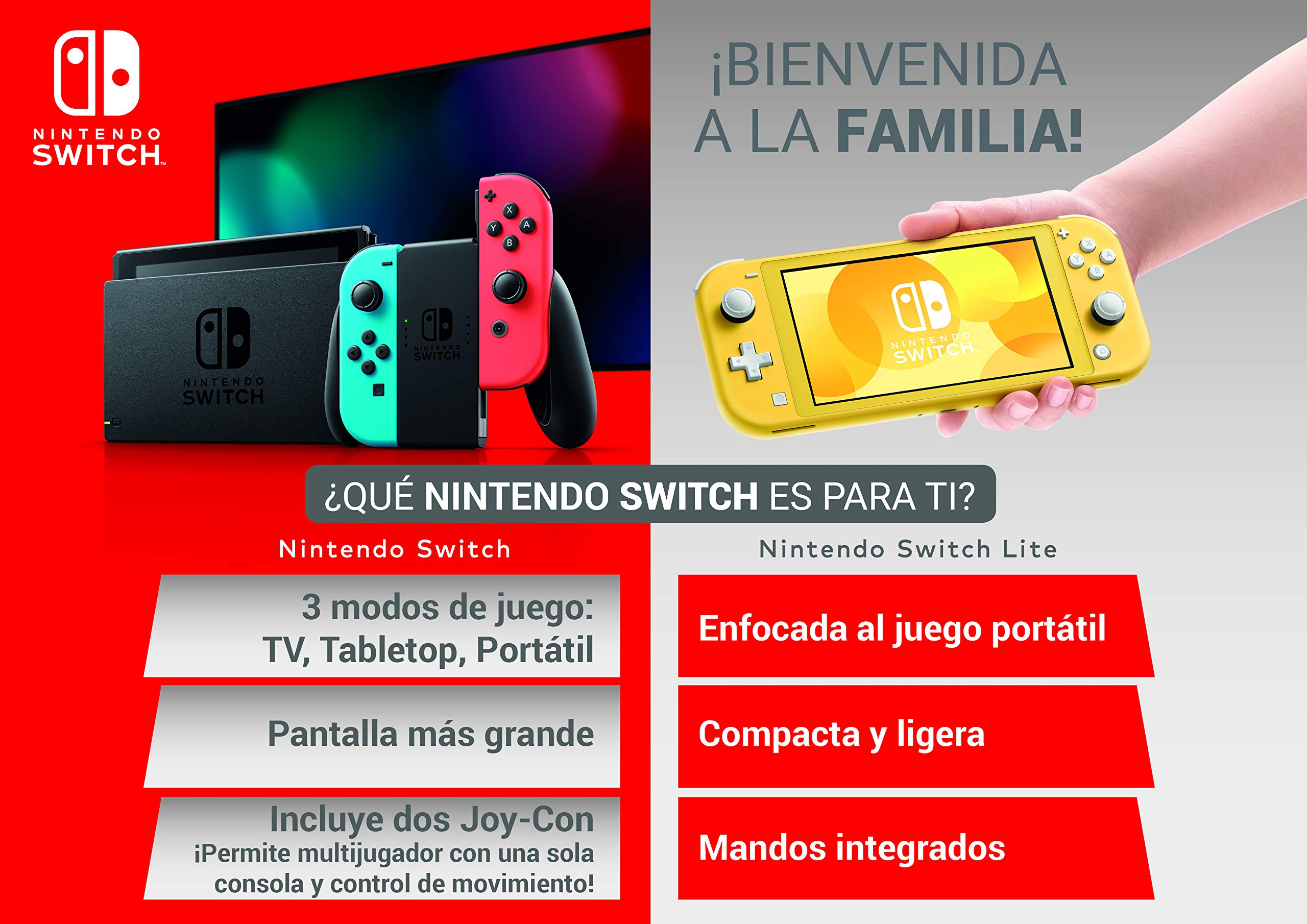 Nintendo Switch - Consola color Azul Neón/Rojo Neón: Amazon.es: Videojuegos