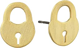 Surreal Lock Stud Earrings