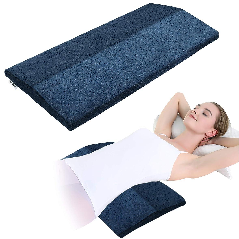 無数の分類する先にKWLET ランバー枕 ランバーサポート枕 睡眠用 高級メモリーフォーム枕 サポート枕 腰 膝 痛み 妊娠サポート枕 洗濯可能カバー M ブルー
