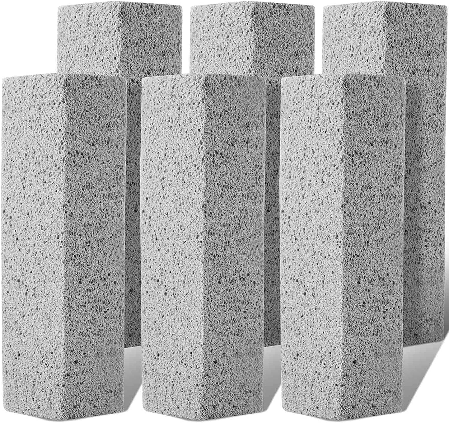 Pumice Stone for Toilet Cleaning Bowl Stick, Refresh Toilet within 1 Minute, 6 New Ways to Use a Pumice Stone, Remove Water Rings Stains on Toilets Bowls, Bathtubs, Pool Shower Tiles, 6 Count : Health & Household