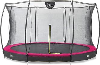 EXIT Silhouette inground trampoline ø427cm met veiligheidsnet - roze