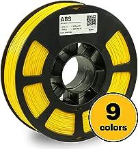 KODAK 3D printer filament ABS LIGHT YELLOW color, +/-  0.03 mm, 750g (1.6lbs) Spool, 1.75 mm. Lowest moisture premium filament in Vacuum Sealed Aluminum Ziploc bag with Silica Gel. Fit Most FDM Printe