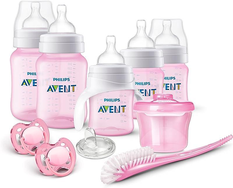 Philips AVENT Anti Colic Bottle Newborn Starter Set Pink 1 Count
