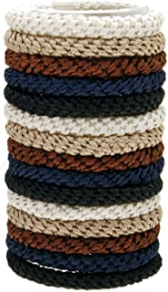 L. Erickson Grab & Go Ponytail Holders, Neutral, Set of Fifteen - Exceptionally Secure with Gentle Hold
