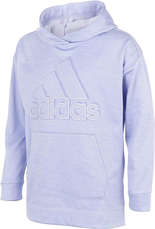 adidas Girl's BOS Melange Fleece Hooded Pullover (Big Kids)
