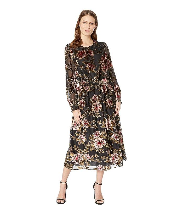 0aae5d6cbd Vince Camuto Long Sleeve Floral Velvet Burnout Dress at 6pm