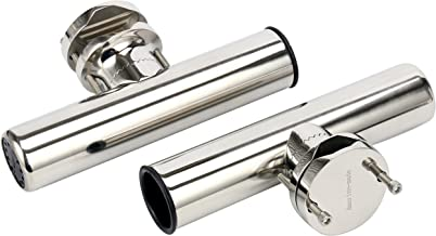 Amarine-made (2X Stainless Rail Mount Clamp on Fishing Rod Holder for Rails 1-1/4