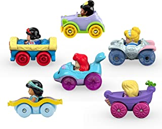 Fisher-Price Little People Disney Princess, Juego de regalo de ruedas, 6 unidades [Amazon Exclusive]