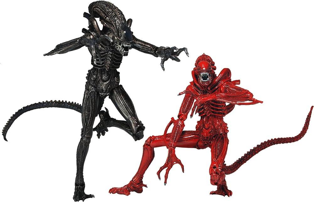 Neca , statua di  alien , 18 cm , genocide alien warrior 2pk 51395