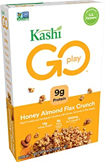 Kashi GO Honey Almond Flax Crunch Breakfast Cereal - Non-GMO Project Verified, Vegetarian, Bulk Size 14 Oz Box (Pack of 4 Boxes)
