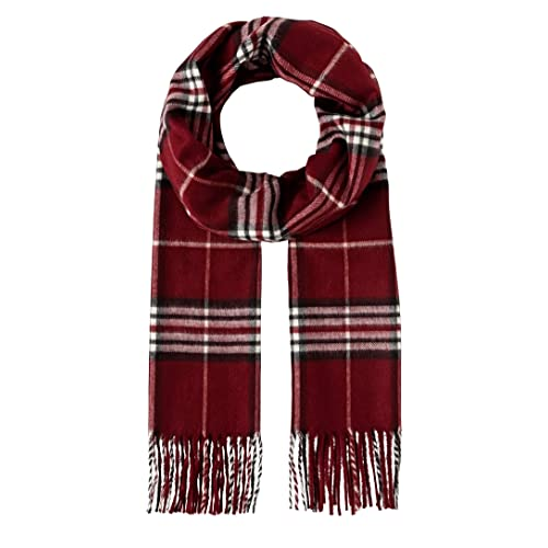 77c9acf59 Vincenzo Boretti Scarf, classic - checked - fringed, cashmere like for men  and women
