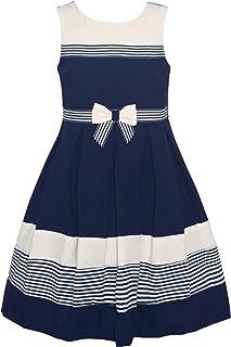 Girls' Floral Puff Print Novelty Dress