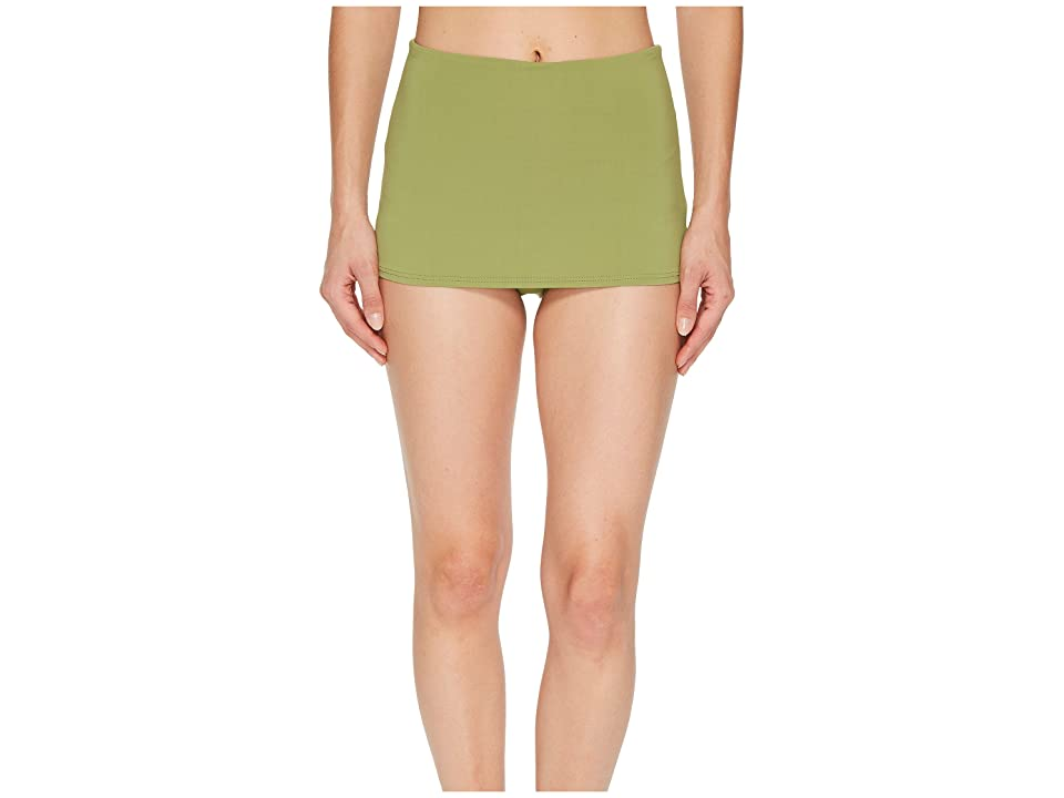 Seafolly High-Waisted Skirted Pants (Moss) Women