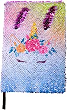 Merrycolor Unicorn Sequin Journal, Mermaid Reversible Sequin Notebook School Diary for Girls Unicorn Journal Gifts for Girls (C Purple)