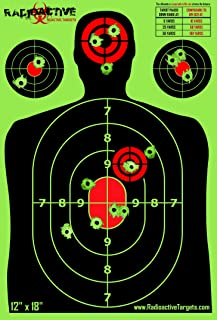 10, 25, and 50 Pack Splatter Targets | 12 x 18 Inch Reactive Targets | Largest Splatter Effect Gun Target Range Targets For Pistols Rifles Handguns and Shotguns