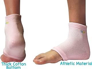 KidSole RX Gel Sports Sock for Kids with heel sensitivity from Severs Disease, Plantar Fasciitis. US Kid's Sizes 2-7 (Pink)