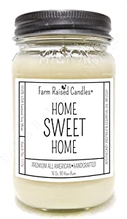 All American Handmade Mason Jar Candles. 16 Ounces Over 80 Hour Burn. 100% Natural Soy Wax Candle. Home Sweet Home Scent