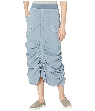 XCVI Wearables Vintage Skirt in Stretch Poplin (Spry Blue Pigment) Women