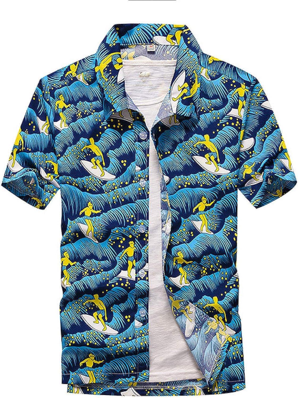 Luandge Men's Printed Washington Mall Beach Quick-Dryi Shirt Arlington Mall Short-Sleeved