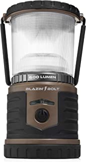 Blazin' Bison Battery LED Rechargeable Lantern | 500 Hour Runtime | Power Bank | Storm Light (600 Lumen, Taupe)