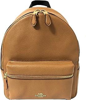 Pebbled Leather Medium Charlie Backpack