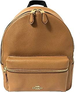 COACH F30550 Medium Charlie Backpack Light Saddle