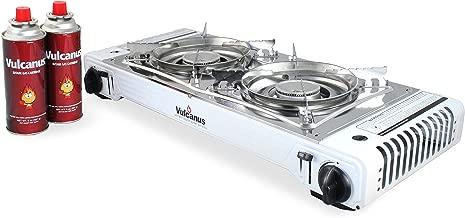 Vulcanus LMSD-5800 Portable Double Burner Gas Stove.26