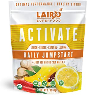 Laird Superfood Activate Lemon Drink Mix, 2.7 oz