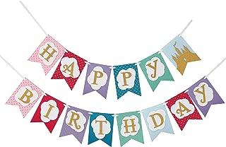 Unicorn Princess - Premium Layered Felt Happy Birthday Banner Bunting Laser Cut Felt 60 inches wide