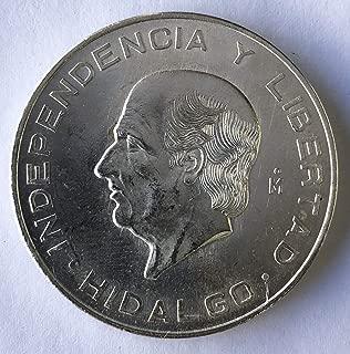1955 MX -1956 Diez Peso Hidalgo Silver Commemorative 10 Peso Brilliant Uncirculated