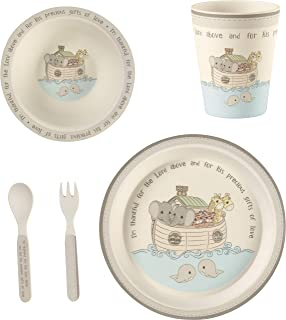 Precious Moments 182433 5 Noah's Ark Gift Mealtime Feeding Set, One Size, Multi