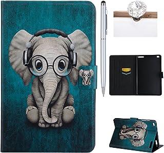 Felfy Kompatibel med fodral Huawei MediaPad T1 10 T1-A21W fodral vackert elefantmönster flip-fodral PU-läder fodral Smart ...