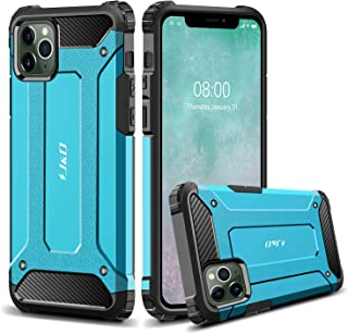 J&D Case Compatible for iPhone 11 Pro Max Case, Heavy Duty [ArmorBox] [Dual Layer] Shock Resistant Hybrid Protective Rugged Case for iPhone 11 Pro Max Case - [Not for iPhone 11/11 Pro] - Blue