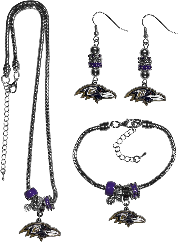 NFL Women's Euro Bead Jewelry 3 piece Set