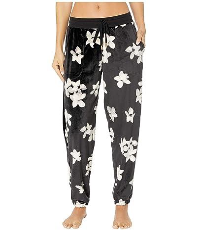 Donna Karan Lux Dream Jogger Pants (Black Floral) Women